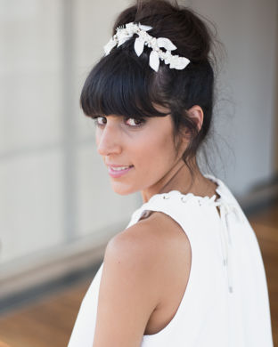 real wedding real bride- Bridal Headpiece bridal headpiece by Tami Bar-lev