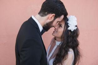 real wedding real bride- Flower Luxury Bridal Headpiece bridal headpiece by Tami Bar-lev