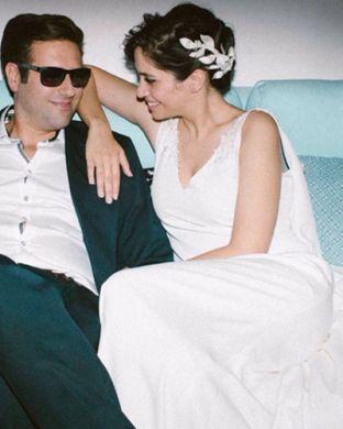 real wedding real bride- Bridal Headpiece bridal headpiece by Tami Bar-lev