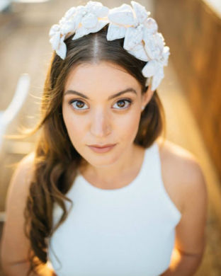flower headpiece by Tami Bar-Lev