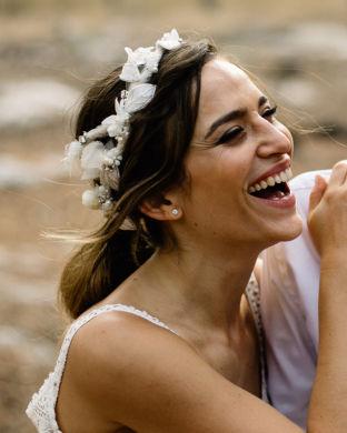 'Luxury Floral Corona' headpiece by Tami Bar-Lev